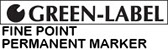 Green Label Fine Point Permanent Marker Logo