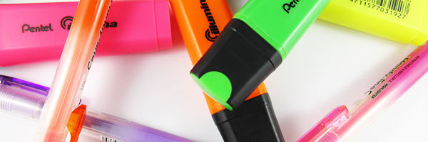 image of highlighters