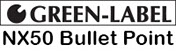 Green Label NX50 Bullet Point logo